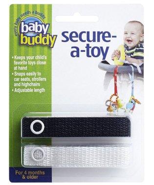 Baby Buddy ベビーバディ おもちゃストラップ2色各1本組 ブラック/ホワイト