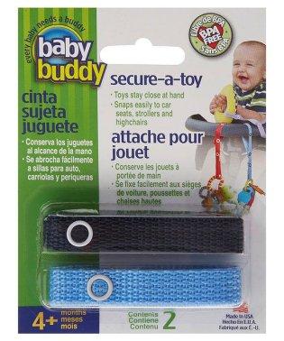 Baby Buddy ベビーバディ おもちゃストラップ2色各1本組 ネイビー/ブルー