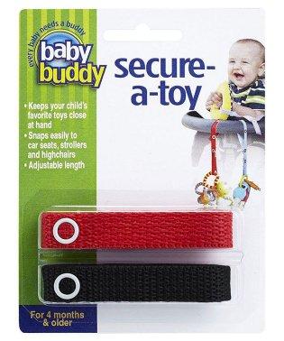 Baby Buddy ベビーバディ おもちゃストラップ2色各1本組 レッド/ブラック