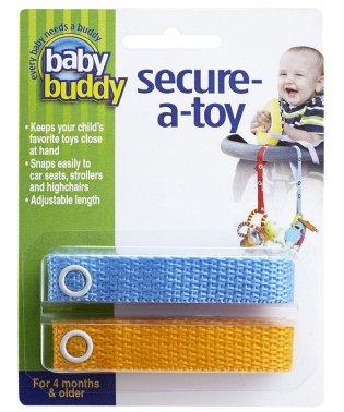 Baby Buddy ベビーバディ おもちゃストラップ2色各1本組 ブルー/マンゴー