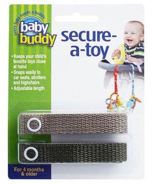 Baby Buddy ベビーバディ おもちゃストラップ2色各1本組 タン/オリーブ
