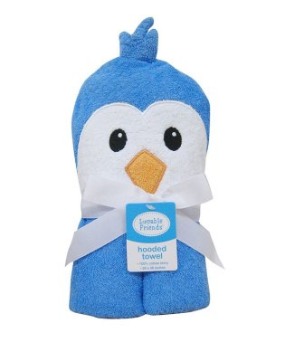 Luvable Friends ラバブルフレンズ アニマルフェイスフード付きバスタオル ブルーペンギン