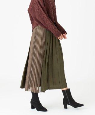 〔ハンドウォッシャブル〕SMF HW 異素材プリーツスカート