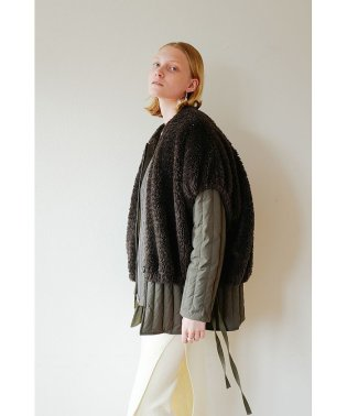 BOA VEST LAYERED DOWN COAT