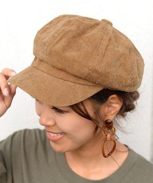 コーデュロイシンプルキャスケット帽