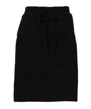 裾カットオフドロスト付きスウェットスカート
