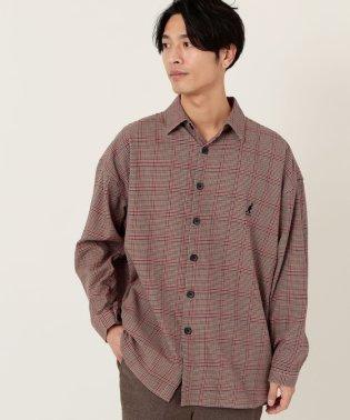 【WEB限定】KANGOL別注ブリティッシュチェックスーパーオーバーシャツ