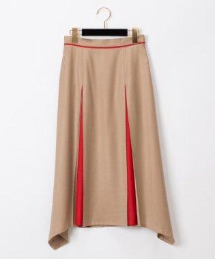 ウール配色スカート