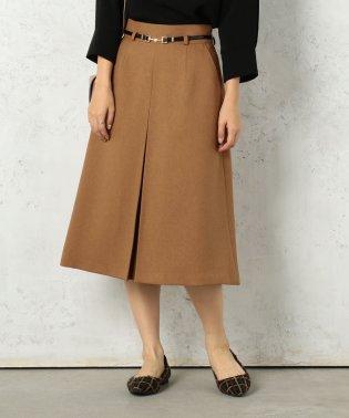ベルト付きBOXスカート