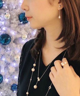 Perle-de-neige ホワイト ネックレス