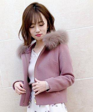 【美人百花12月号掲載】フードZIPハーフ丈コート