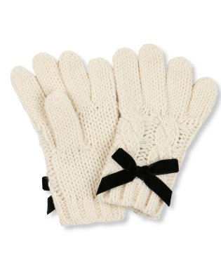 リボン付き手袋