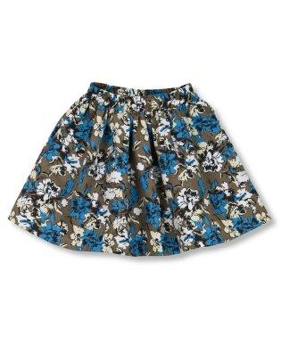 花柄起毛スカート