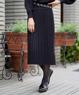 【InRed11月号掲載/洗える/セットアップ対応】レーヨンストレッチニットジャカードスカート