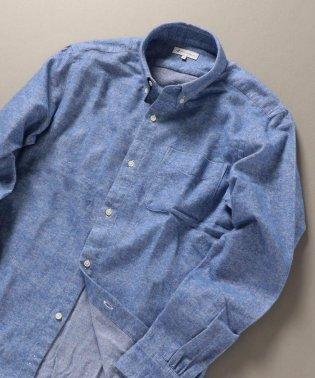 SHIPS JET BLUE: ボタンダウン ネルシャツ ソリッド