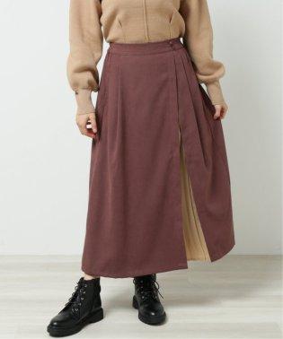 スウェードタッチラップスカート