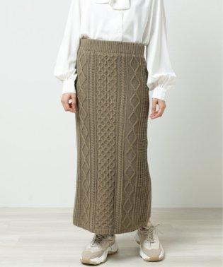 5Gケーブルニットスカート