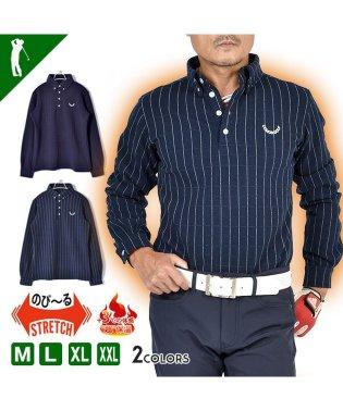 【COMON GOLF】汗ばむほどに暖かい防寒長袖ゴルフポロシャツ(CG-LP918)