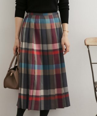 カラーチェックプリーツスカート