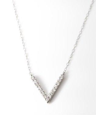 PT 0.15ct ダイヤモンド Vネックレス