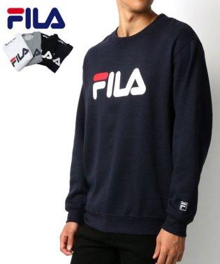 【FILA】フィラ 胸ロゴプリント 裏起毛 トレーナー