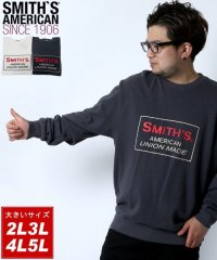 【SMITH'S AMERICAN】スミスアメリカン 大きいサイズ 胸ロゴプリント 裏毛 トレーナー