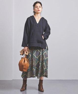 UWCS スカーフプリント マキシスカート