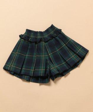 【ROPE' PICNIC KIDS】チェックプリーツキュロットパンツ