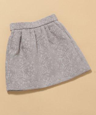【ROPE' PICNIC KIDS】アラベスクジャガードタックギャザースカート