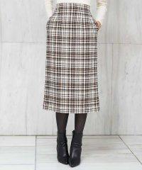【洗える】スパークリリヤーンツイードタイトスカート