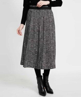 【洗える】ヘリンボンプリントプリーツスカート