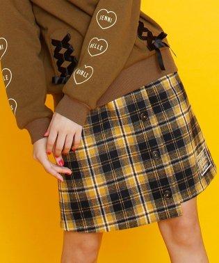 チェック前ボタンスカート