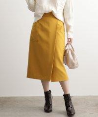 【EASY CARE】ウォッシャブルフラノラップタイトスカート