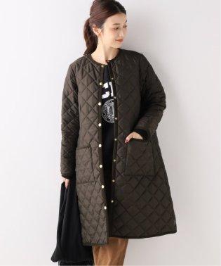 【Traditional Weatherwear】別注キルティングノーカラーロングコート