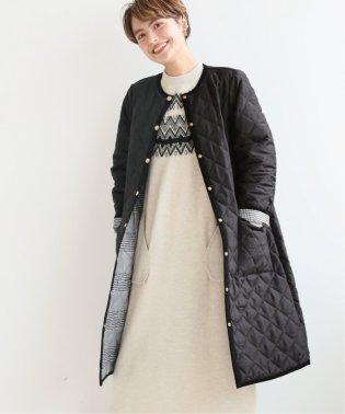 【Traditional Weatherwear】別注キルティングノーカラーロングコート◆