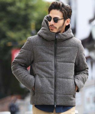 メルトン中綿ジャケット / 中綿 ブルゾン ジャケット メンズ 中綿ジャケット