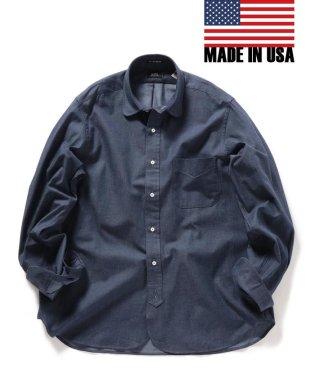 SHIPS×IKE BEHAR: アメリカ製 デニムトーン ラウンドカラー シャツ