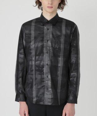 【BLACK lab.】クレストブリッジチェックエンボスカムフラージュシャツ