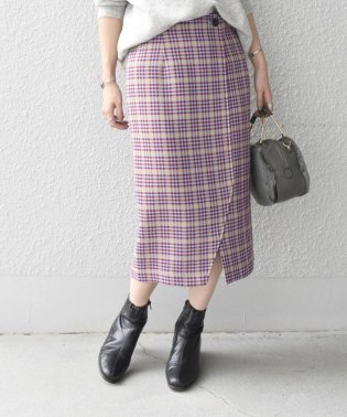 Khaju:チェックスリットスカート