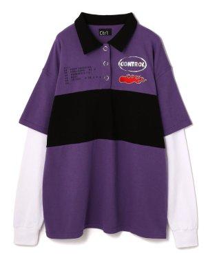 Ctr1/コントロール/ポロシャツレイヤードロングスリーブTシャツ