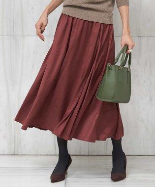【洗える】スエードギャザースカート