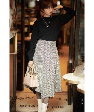◆千鳥チェックアシメフレアースカート