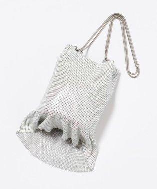 【WEB限定】メタルメッシュフリル巾着 バッグ
