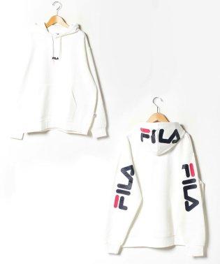 【FILA】フィラ 大きいサイズ 胸ロゴ刺繍 袖ロゴプリント フードロゴプリント パーカー