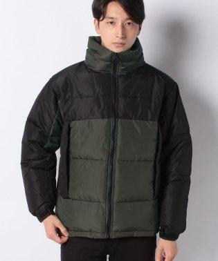 切り替え配色中綿ジャケット