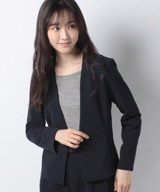 【セットアップ対応商品】ハイストレッチジョーゼット素材カラーレスジャケット