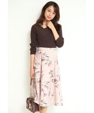 レトロフラワープリントスカート