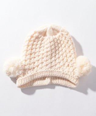Wぽんぽんニット帽