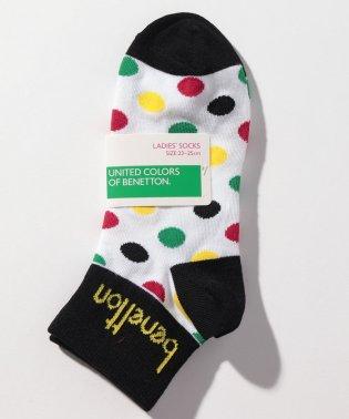 レディースマルチドット柄Sソックス・靴下
