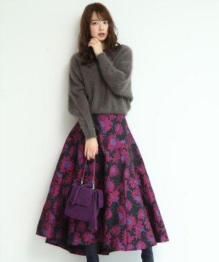 【STORY12月号掲載】サイドフレアジャガードスカート